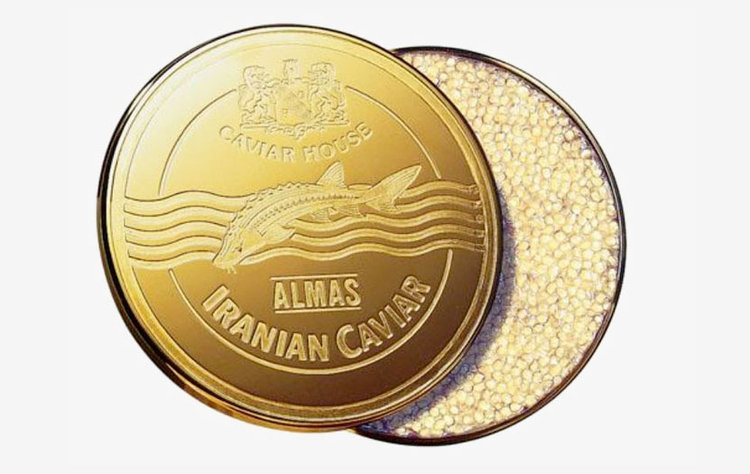 Almas Caviar — supposedly the most expensive variety for that luxury dining experience